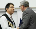 Musqueam Jim Kew and Stephen Toope